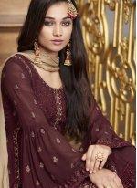 Faux Georgette Ceremonial Designer Pakistani Suit