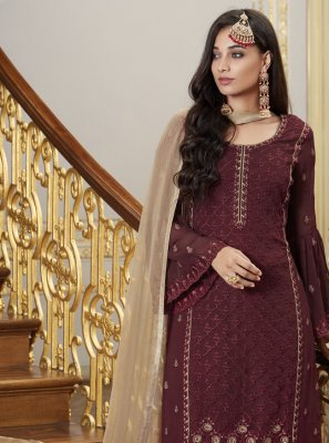 Faux Georgette Ceremonial Designer Pakistani Suit