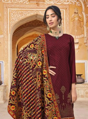 Faux Georgette Embroidered Designer Pakistani Salwar Suit