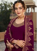 Faux Georgette Embroidered Designer Pakistani Salwar Suit