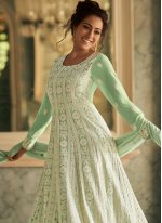 Faux Georgette Fancy Floor Length Anarkali Salwar Suit