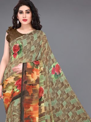 Faux Georgette Festival Contemporary Saree
