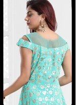 Faux Georgette Festival Readymade Gown