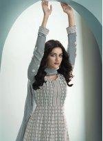 Faux Georgette Grey Fancy Floor Length Anarkali Suit