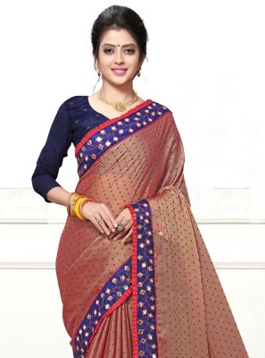 Faux Georgette Mirror Trendy Saree