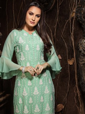 Faux Georgette Party Wear Kurti