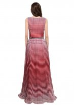 Faux Georgette Printed Readymade Gown