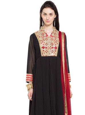 Faux Georgette Readymade Anarkali Salwar Suit