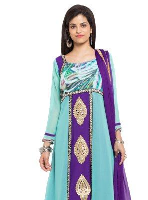 Faux Georgette Readymade Salwar Kameez
