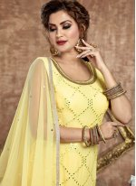 Faux Georgette Readymade Suit