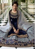 Faux Georgette Resham Designer Long Lehenga Choli