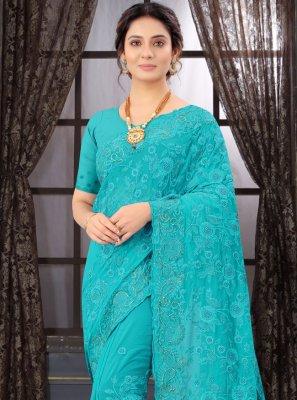 Firozi Classic Designer Saree
