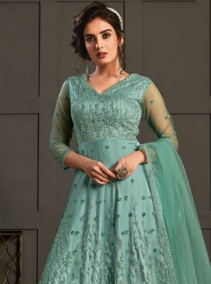 Firozi Designer Floor Length Salwar Suit
