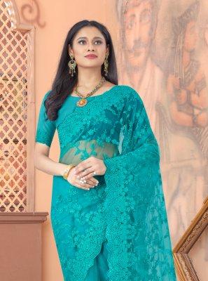 Firozi Sangeet Designer Saree