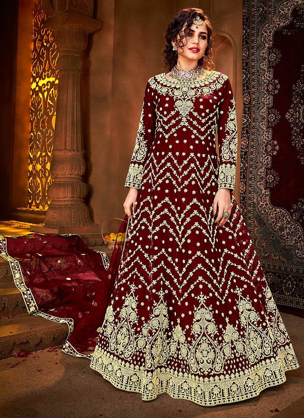 Floor Length Anarkali Suit For Sangeet