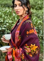 Floral Print Multi Colour Faux Georgette Printed Saree
