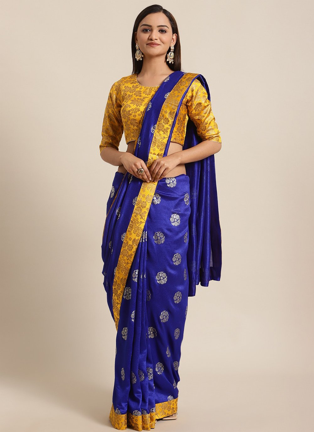 Foil Print Traditional Saree