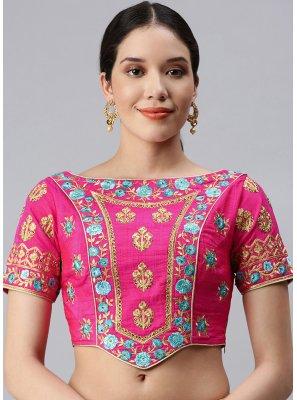 Fuchsia Embroidered Designer Blouse