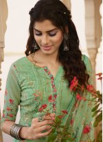 Georgette Embroidered Bollywood Salwar Kameez in Green