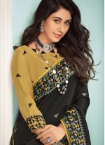 Georgette Embroidered Contemporary Saree