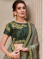Georgette Green Designer Traditional Saree