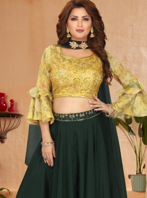 Georgette Green Readymade Suit