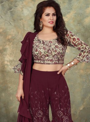 Georgette Indo Western