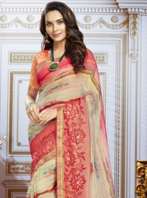 Georgette Multi Colour Contemporary Saree