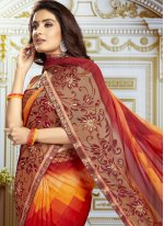 Georgette Printed Bollywood Saree in Multi Colour