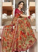 Georgette Printed Multi Colour Bollywood Saree