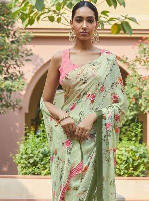 Georgette Satin Bollywood Saree