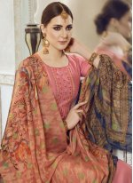Georgette Satin Designer Pakistani Suit in Pink