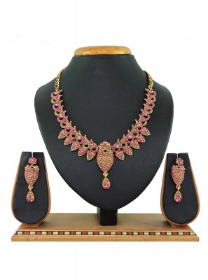 Gold and Pink Ceremonial Necklace Set