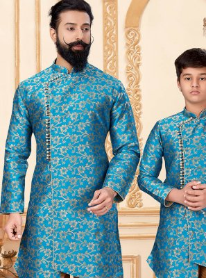 Gold and Turquoise Color Indo Western