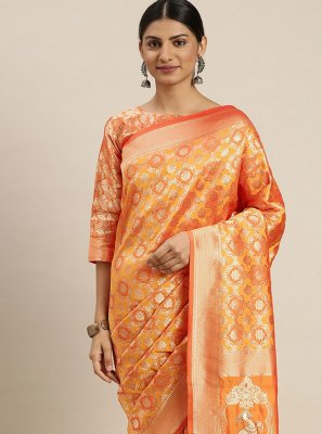 Gold Ceremonial Traditional Designer Saree