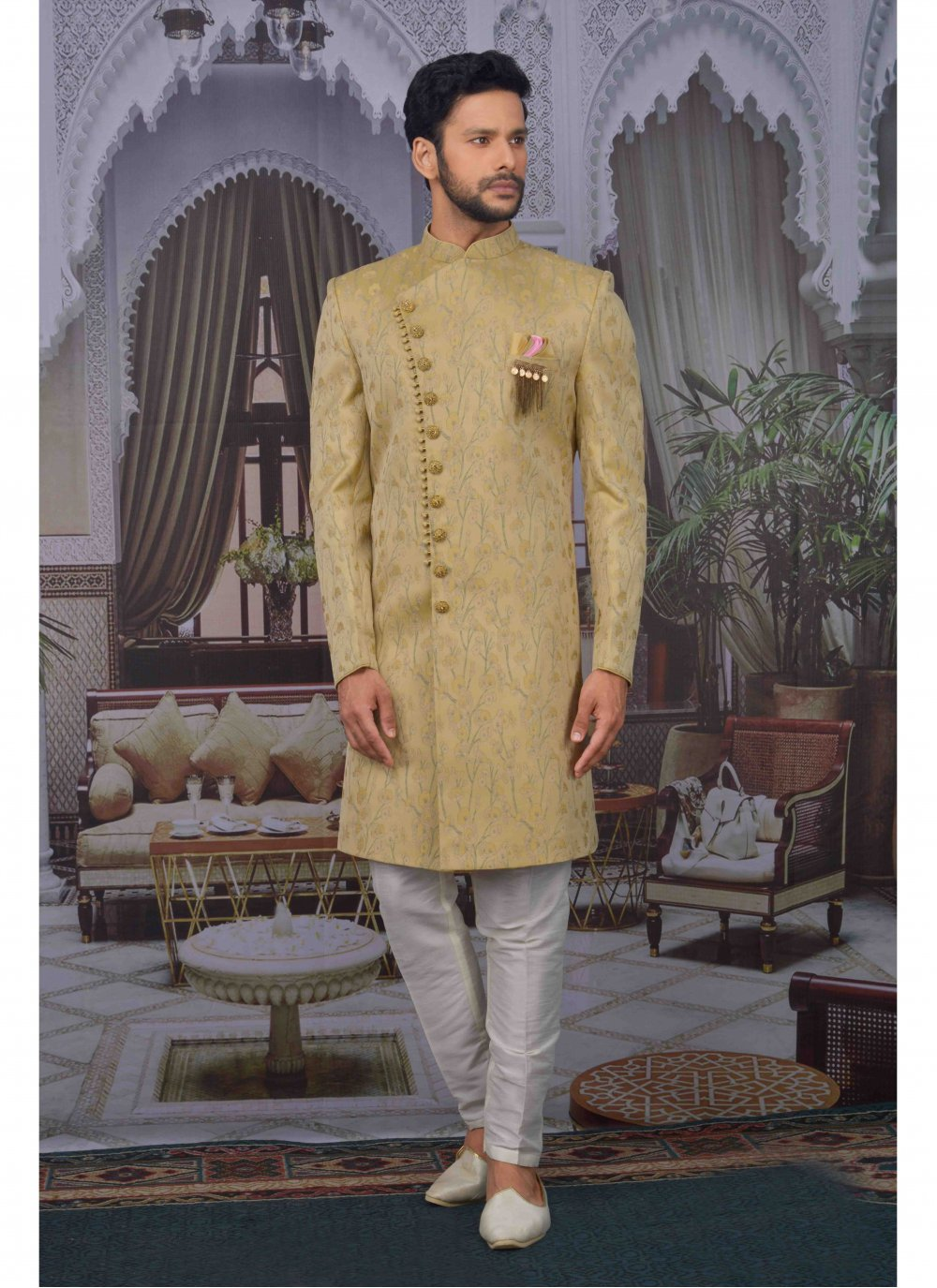 Gold Embroidered Indo Western