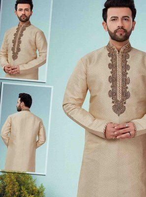 Gold Embroidered Kurta Pyjama