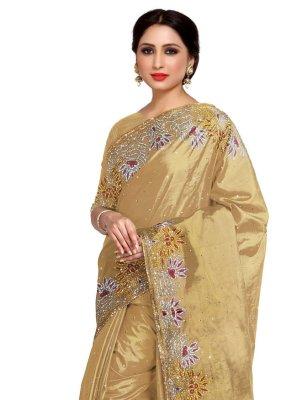 Gold Fancy Designer Saree