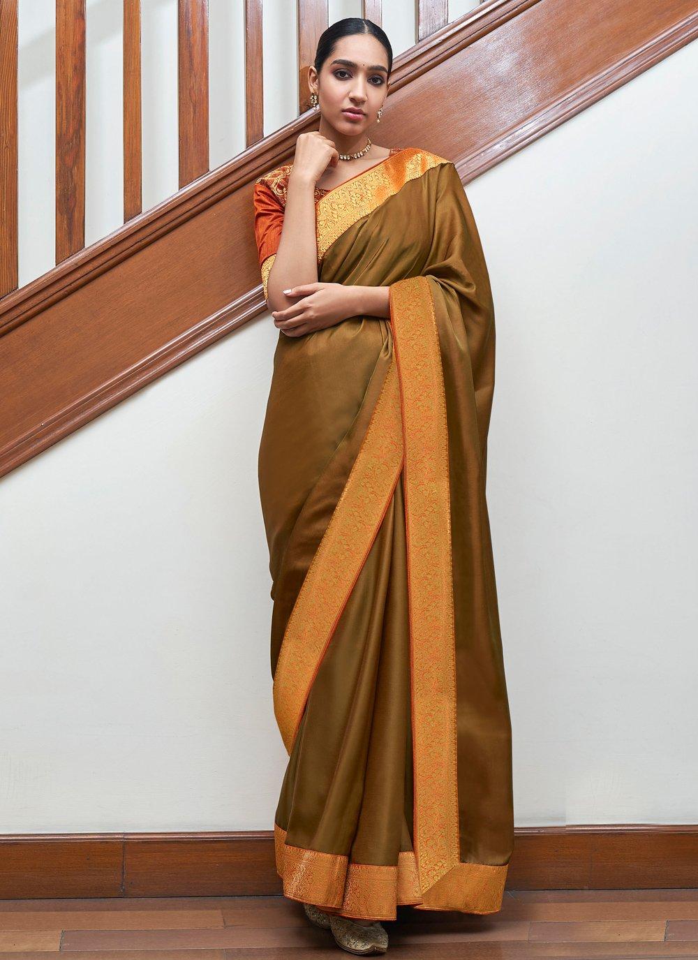 Gold Festival Traditional Designer Saree