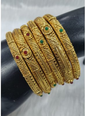 Gold Sangeet Bangles