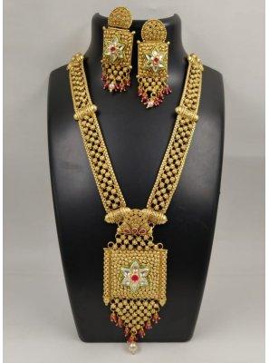 Gold Stone Pendant Set