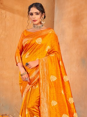 Gold Weaving Party Classic Saree