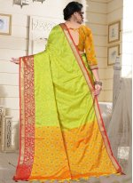 Green and Yellow Fancy Designer Traditional Saree