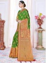 Green Art Banarasi Silk Traditional Saree