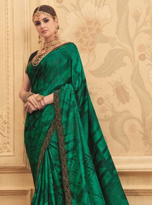 Green Art Silk Designer Traditional Saree