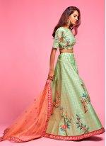 Green Art Silk Lehenga Choli