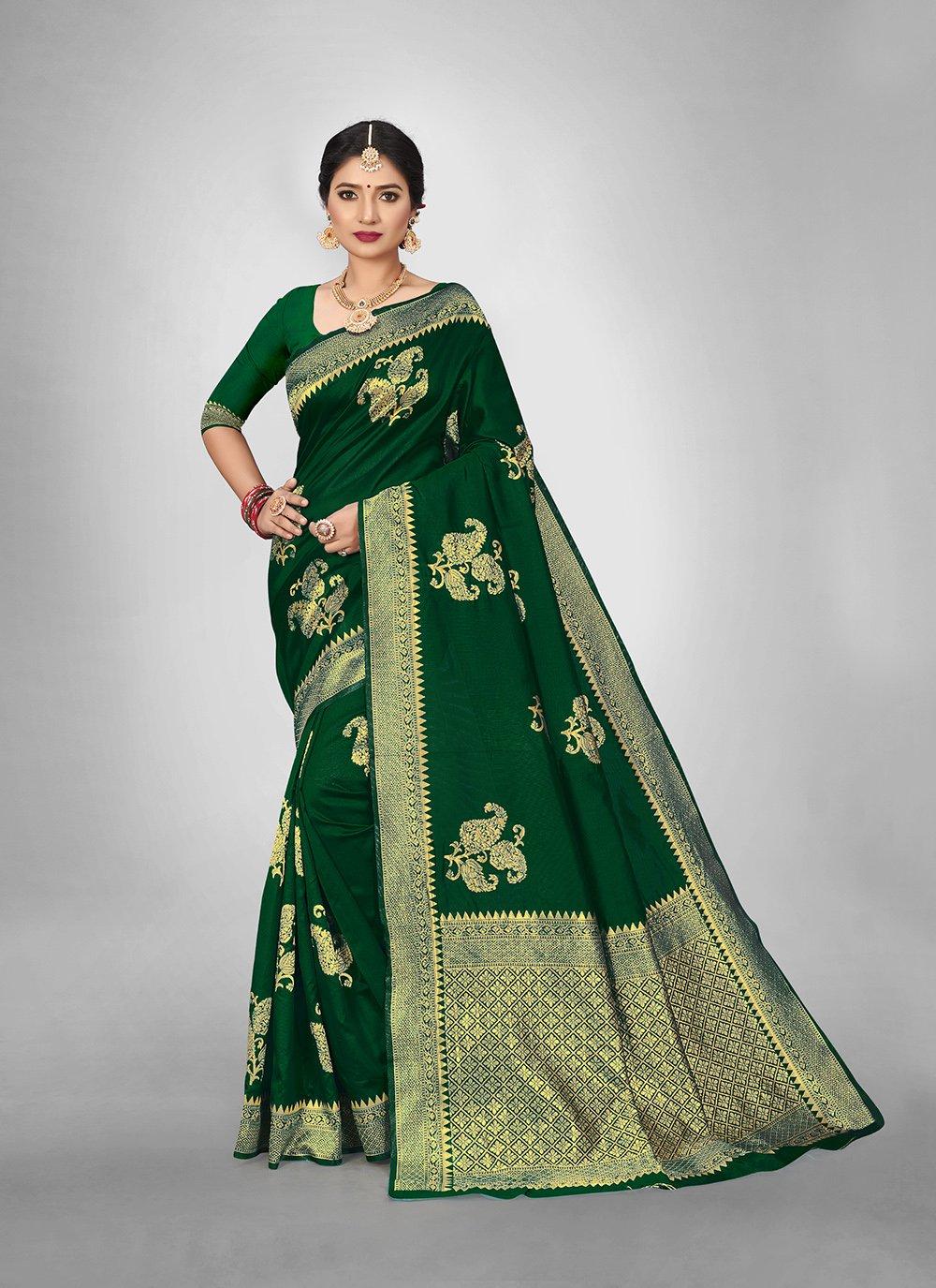 Green Art Silk Weaving Silk Saree