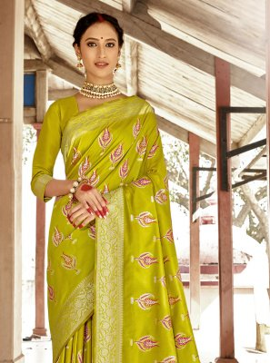 Green Banarasi Silk Designer Traditional Saree