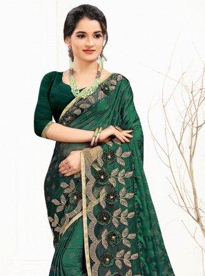 Green Banglori Silk Classic Designer Saree
