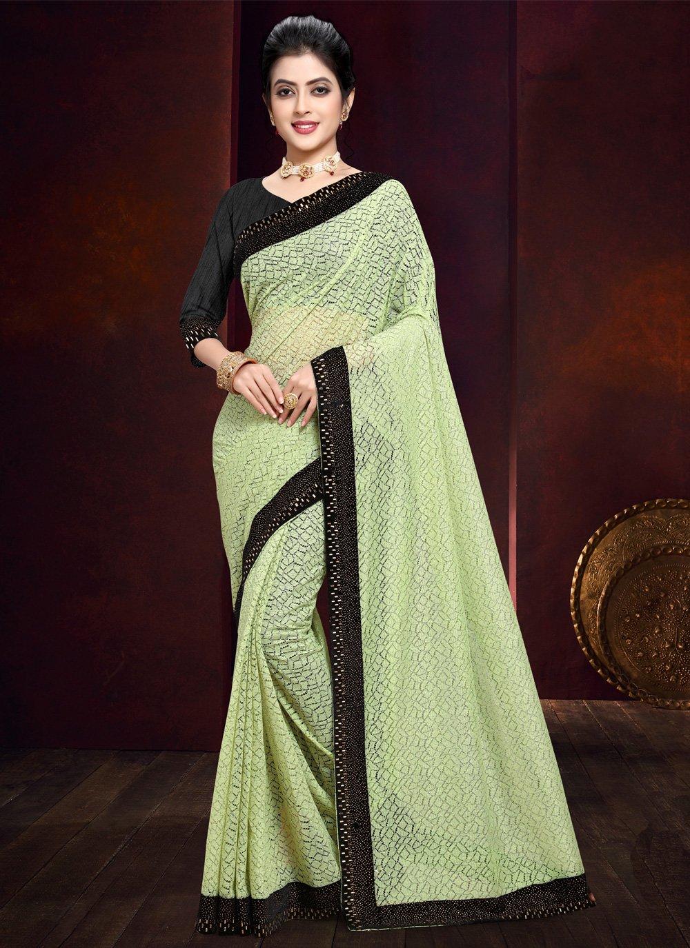 Green Bollywood Saree